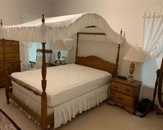 #4Flint River Maple Full Size Canopy Bedframe  $250.00  #5Double-sided Full Size Mattress/Boxsprings $100.00