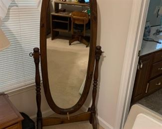 #9Floor Mirror Dark Wood (As Is) $30.00
