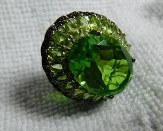 Chartreuse Quartz, Peridot & Black Diamond