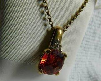 Lab Padpradscha Sapphire Necklace