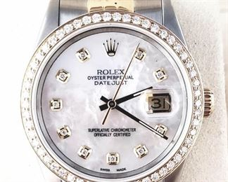 Diamond and Gold Rolex, Datejust