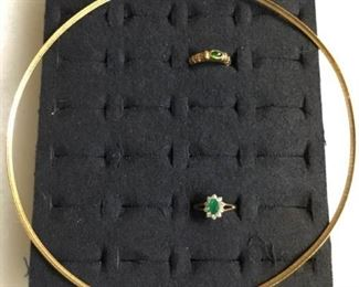 003 Emeralds and 10k Gold