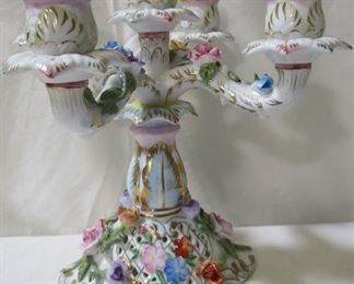 Lot# 348 - KPM Porcelain Candelabra