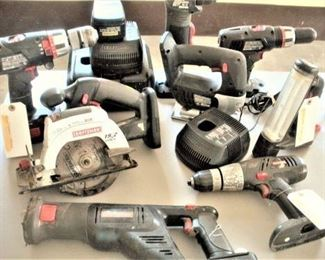 Lots of Power Tools.  Ready for your home projects.