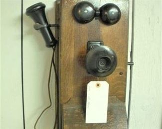 Antique Wall Telephone....be sure to stop by and show the young ones what phones used to be like....learning is always a good thing.