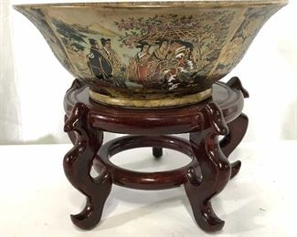 Satsuma Japanese Hand Painted Porcelain Bowl