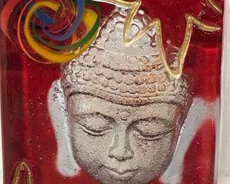 Art Glass Buddha Head