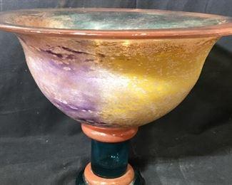 Kosta Boda Art Glass Pedestal Bowl
