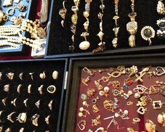 Gold, diamonds, rings, charms, bracelets, necklaces