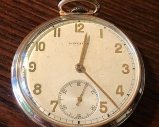 14k Gold Longines Pocket Watch 17 Jewels