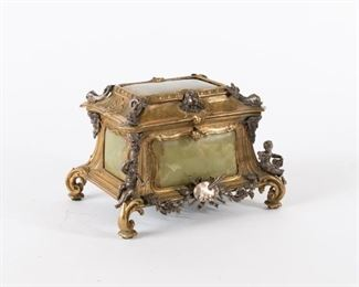 1: Onyx and Ormolu Casket with Neoclassical Mounts