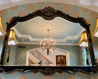 """$400 - Distinctive Large Beveled Mirror. Measures 57"""" x 45"""". Originally purchased for $744."""
