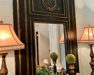 """$500 - IMPRESSIVE Distressed Mirror by Habersham. Measures 43"""" wide x 62"""" tall. Originally purchased for $1100."""