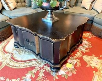 """$800 - High-end, designer coffee table by Henredon. Measures 42"""" x 42"""" x 20.5"""". Originally purchased for $3400."""