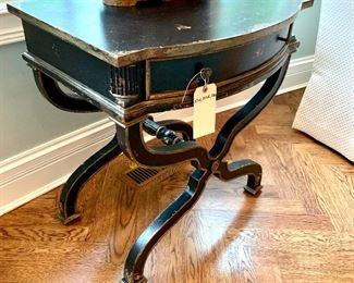 Alternate view of Distressed Side Table by Henredon.