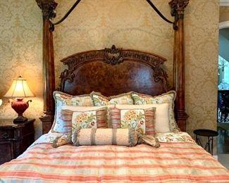 Alternate View of Custom King Bedding Set