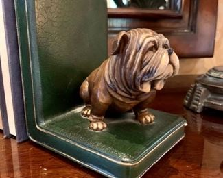 """$100 (PAIR) -  Dog Figurine Bookend. Measures 5"""" x 4"""" x 5.5""""."""