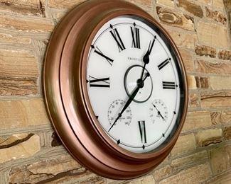 """$100 - Frontgate Wall Clock - Measures 24"""" Diameter"""