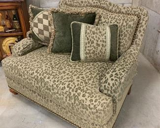 Close up of comfy oversized chair.