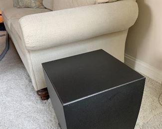 "$100 - Modern Metal Side Table - Measures 15"" x 15"" x 18""."