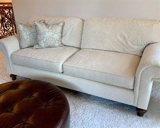 "$450 - DESIGNER Cream Sofa by Henredon. Measures 86"" x 36"" x 38"". Originally purchased for $1600."