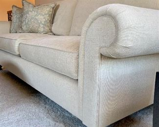 Side View of Henredon Cream Sofa