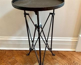 $100 - Metal Side Table 14.5D x 25.5 H