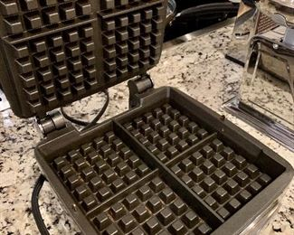 inside view of waffle maker