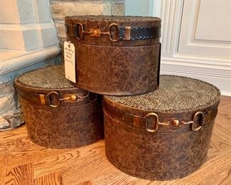 $70. Set of 3 decorative nesting boxes