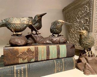 Alternate view of decorative bird figurines.
