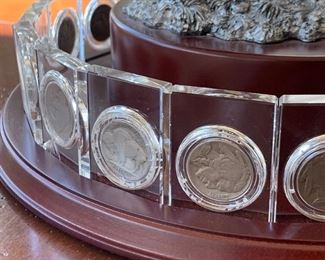 Close up of Buffalo Display Stand