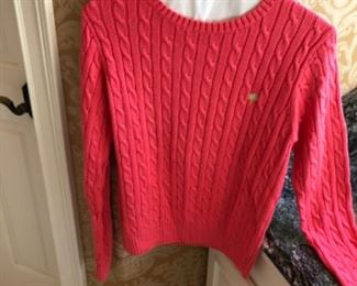 $30 - Pretty in Pink! Lily Pulitzer Cable Knit Sweater. Size Large.