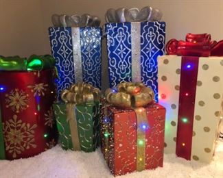 Frontgate Fiber Optic Holiday Decorations. Prices vary with size - from $80 to $120.