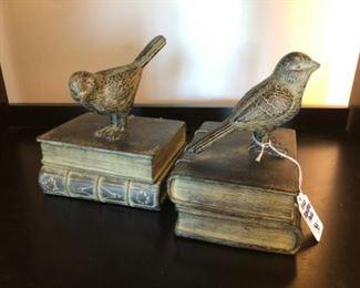 "$38 PAIR - Distinctive Pair of Bird Bookends - 4"" x 5"" x 7"""