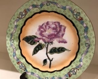 $16 - Floral plate with stand
