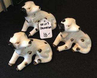 $18 set of 3 dalmatians