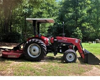 LIKE NEW!  2003 Massey Ferguson 231S Tractor w/canopy and less than 92 hours. Serviced 7/2020. Being sold with Bush Hog2346QT  front end loader and Bush Hog SQ600 mower