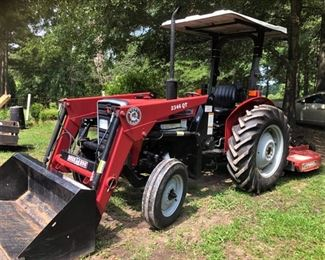 Like New! 2003 Massey Ferguson 231S Tractor w/canopy. Less than 92 hours. Serviced 7/2020. Being sold with Bush Hog2346QT  front end loader and Bush Hog SQ600 mower