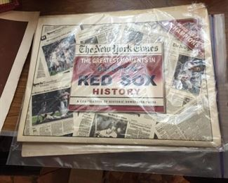 Vintage Red Sox Items.