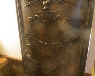 The Gamewell Co. Cast Iron Police Telegraph New York. No insides  Not Repainted