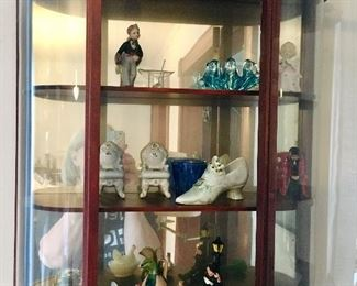 Wall mounted curio, small antiques & collectibles