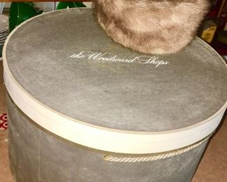 Mink hat and hat box