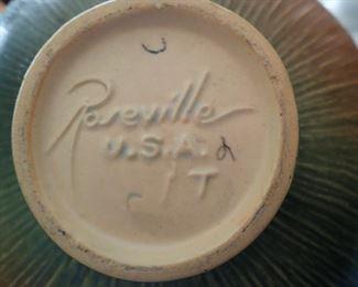 ROSEVILLE USA  TEAPOT & CREAM AND SUGAR