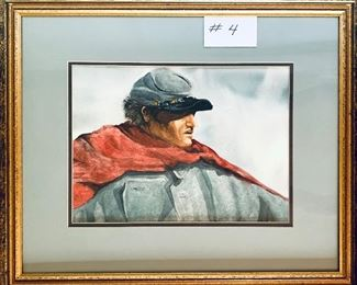 BETTE PHELPS WATERCOLOR SOLIDER 24w x 20t $650