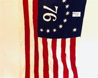 Bicentennial 76 Bennington American flag 3 x 5 cotton $50