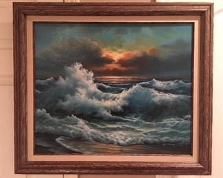 Original oil painting, framed