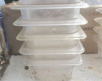 Lot of 6 NSF 1.53L 1/6×4 inch Clear Plastic Pans