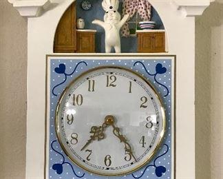 Pillsbury Doughboy Clock 1999
