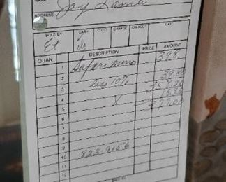 Safari mirror receipt