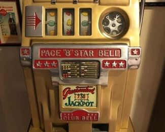 """$1695 Pace """"8"""" Star Slot Machine """"Club Bell"""" ( 5 Cents) - works great!"""